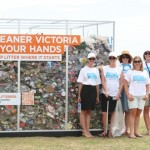 Victorian litter strategy launch on St Kilda beach